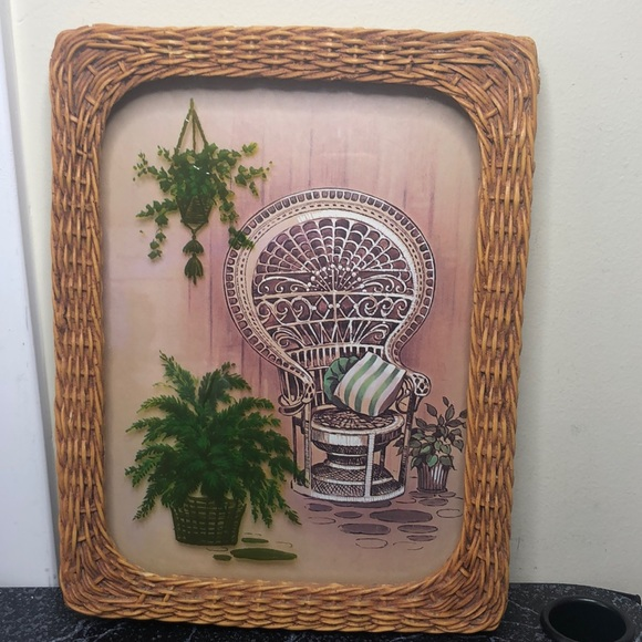 Vintage peacock chair picture